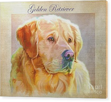 Golden Retriever Painting Wood Print by Iain McDonald