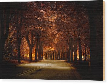 Golden Road Wood Print by Marek Czaja