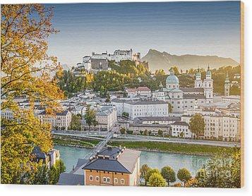 Golden Salzburg Wood Print by JR Photography