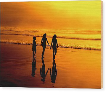 Wood Print featuring the photograph Golden Sands  by Micki Findlay