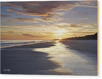 Golden Sands Wood Print by Phill Doherty