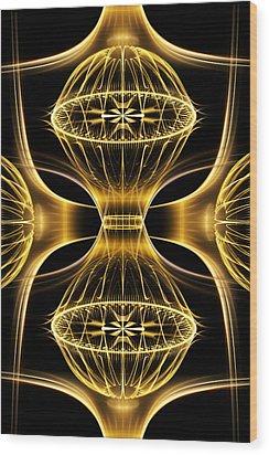 Golden Shimmer Wood Print