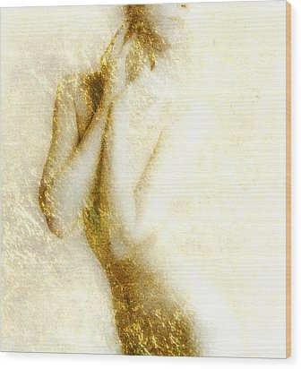 Golden Shower Wood Print