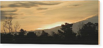 Golden Sky Wood Print by Ione Hedges
