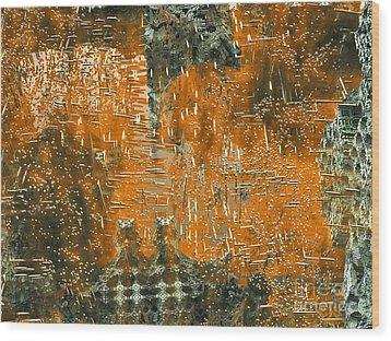 Golden Stellar Fields Wood Print by Bernard MICHEL
