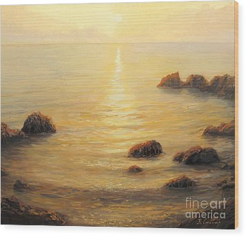 Golden Sunrise Wood Print by Kiril Stanchev