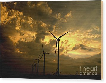 Wood Print featuring the photograph Golden Sunset 2 by Jim McCain