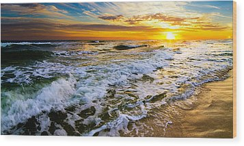 Golden Sunset Wood Print by Eszra Tanner