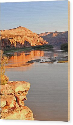 Golden Sunset On The Colorado Wood Print by Marty Koch