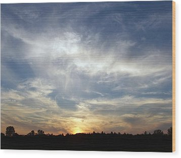 Wood Print featuring the photograph Golden Sunset by Teresa Schomig