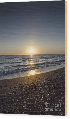 Wood Print featuring the photograph Golden Sunset2 by Bruno Santoro
