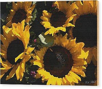 Golden Sunshine Wood Print by Cole Black