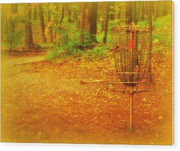 Golden Target Wood Print