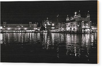 Golden Temple Wood Print by Gautam Gupta