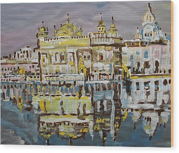 Golden Temple  Wood Print by Vikram Singh