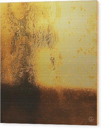 Golden Tree Wood Print by Gun Legler