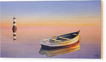 Golden Twilight Wood Print
