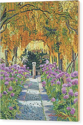 Golden Walk Wood Print by David Lloyd Glover