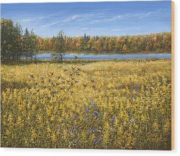 Goldenrod Wood Print by Doug Kreuger