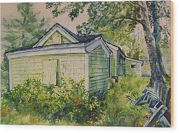 Goldenrod Wood Print by Joy Nichols