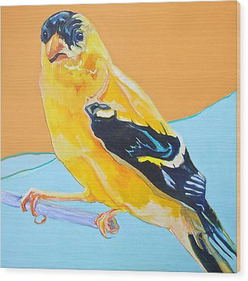 Goldfinch Wood Print by Jamie Downs