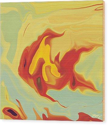 Wood Print featuring the digital art Goldfish 2 by Rabi Khan