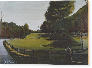 Golf Course In Duxbury Ma Wood Print by Diane Strain