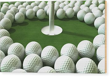 Golf Hole Assault Wood Print by Allan Swart