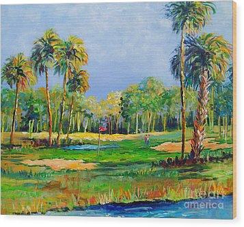 Golf In The Tropics Wood Print by Lou Ann Bagnall