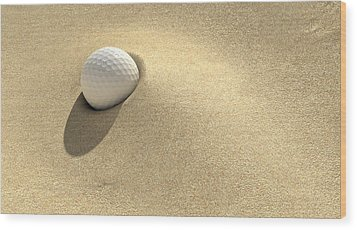 Golf Sand Trap Wood Print by Allan Swart