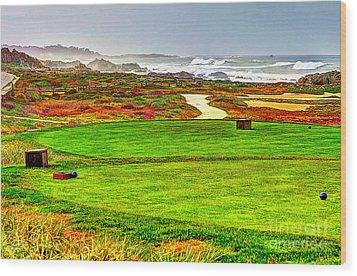 Golf Tee At Spyglass Hill Wood Print by Jim Carrell