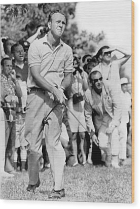 Golfer Arnold Palmer Wood Print by Underwood Archives