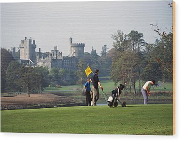 Golfing At Dromoland Castle Wood Print by Carl Purcell