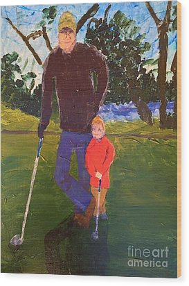 Golfing Wood Print