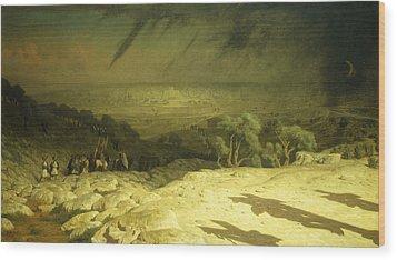 Golgotha Wood Print by Jean Leon Gerome