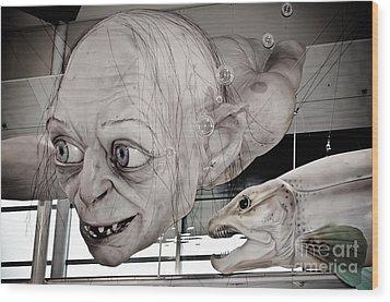 Gollum Or Smeagol Wood Print