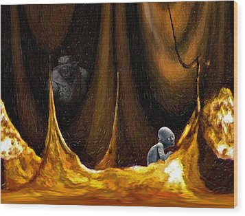 Gollum Shows The Way Wood Print by Steve Harrington