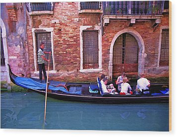 Wood Print featuring the photograph Gondola 4 by Allen Beatty
