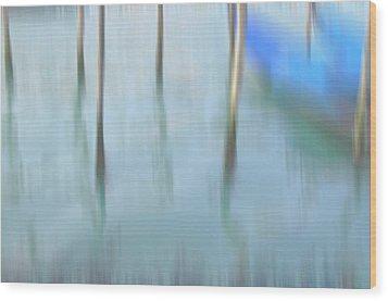 Gondola Poles Wood Print