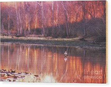 Wood Print featuring the photograph Gone Fishin' by Julie Clements