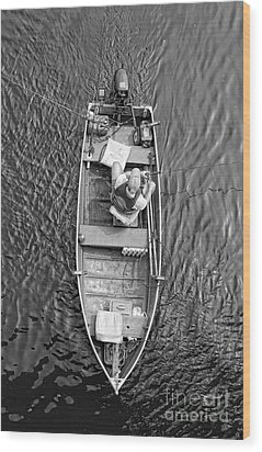 Gone Fishing  Wood Print by Lee Dos Santos