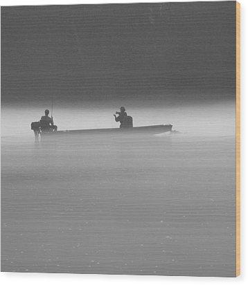 Gone Fishing Wood Print by Mike McGlothlen