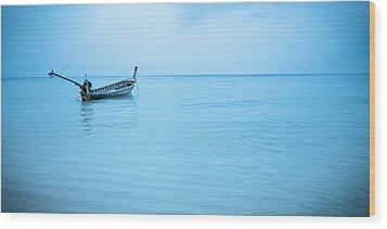 Gone Fishing Wood Print by Shari Mattox
