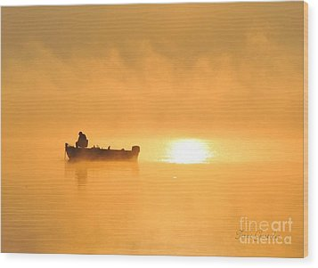 Wood Print featuring the photograph Gone Fishing by Terri Gostola