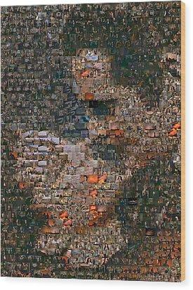 Gone With The Wind Scene Mosaic Wood Print by Paul Van Scott