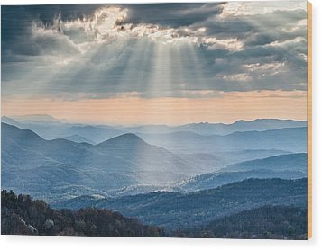 Good Afternoon From Max Patch Wood Print by Rob Travis