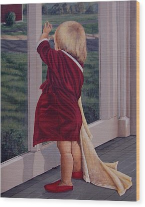 Good-by Wood Print by AnnaJo Vahle