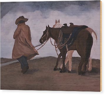 Good Day For A Walk Wood Print by Christy Saunders Church