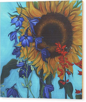 Good Day Sunshine Wood Print by Andrea LaHue