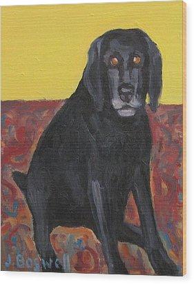 Good Dog Series 2 Wood Print by Jennifer Boswell